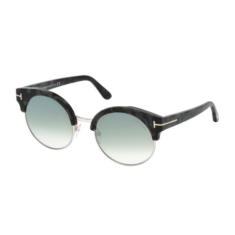 Women's Alissa Sunglasses // Black Havana + Mirrored Blue