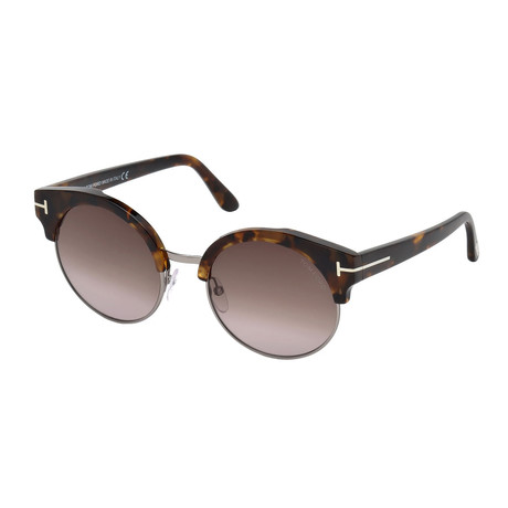 Women's Alissa Sunglasses // Tortoise + Brown Gradient