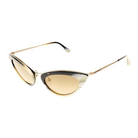 Women's Grace Sunglasses // Horn + Brown