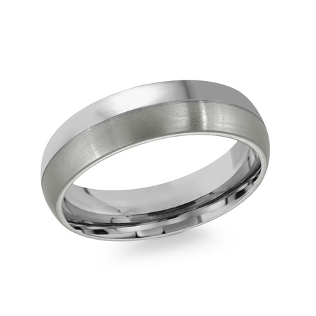 Half Brushed + Half Polished Comfort Fit Ring (5)