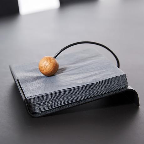 String Napkin Holder (Black, Anthracite)