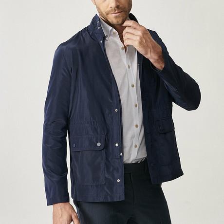 Ross Overcoat // Navy Blue (XS)