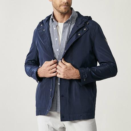 Chandler Overcoat // Navy Blue (XS)