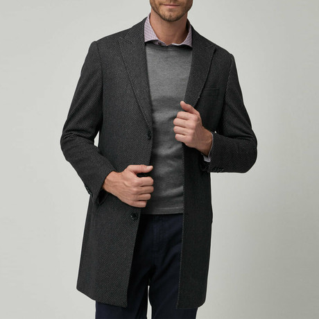 August Coat // Black + Gray (Euro: 46)