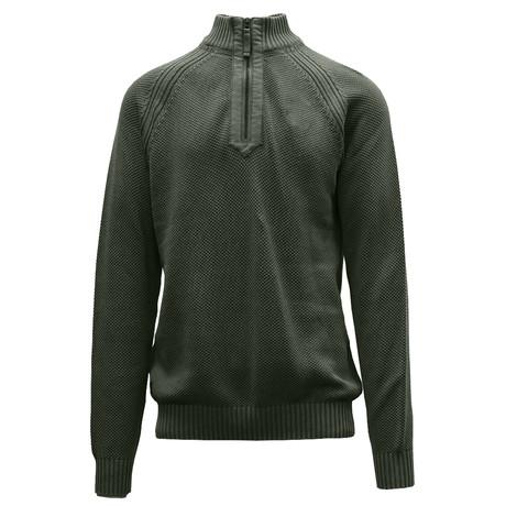Quail Quarter Zip Sweater // Tactical Green (S)