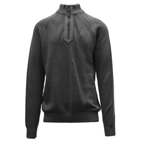 Quail Quarter Zip Sweater // Charcoal (S)