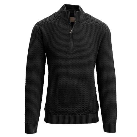 Jarvis Quarter Zip Sweater // Black (S)