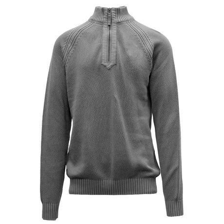 Quail Quarter Zip Sweater // Pebble (S)