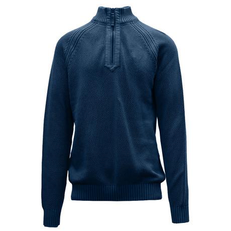 Quail Quarter Zip Sweater // Navy (S)