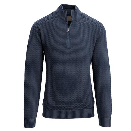 Jarvis Quarter Zip Sweater // Navy (S)