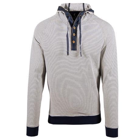 Vail Long Sleeve // Navy + Silk White (S)
