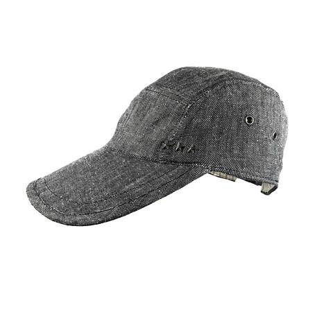 John Varvatos // Denim Weave Baseball Hat // Coal (Size S/M)