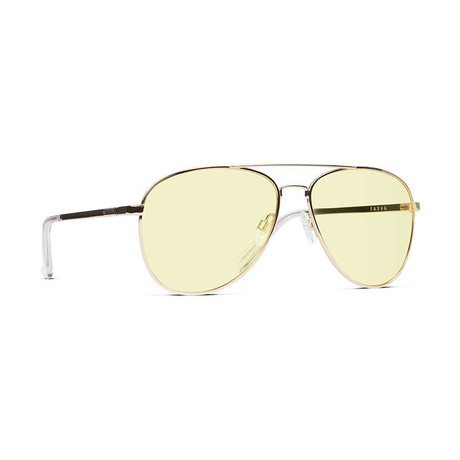 Unisex Farva Sunglasses // Gold + Yellow