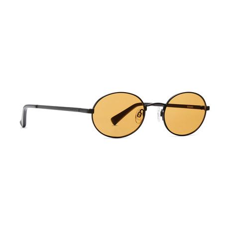 Unisex Scenario Sunglasses // Black + Amber
