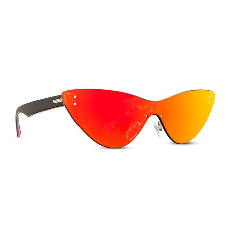 Women's Alt Ubiquity Sunglasses // Black + Gray Red Chrome