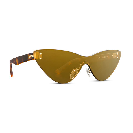 Women's Alt Ubiquity Sunglasses // Tort Brown + Bronze Gold Chrome