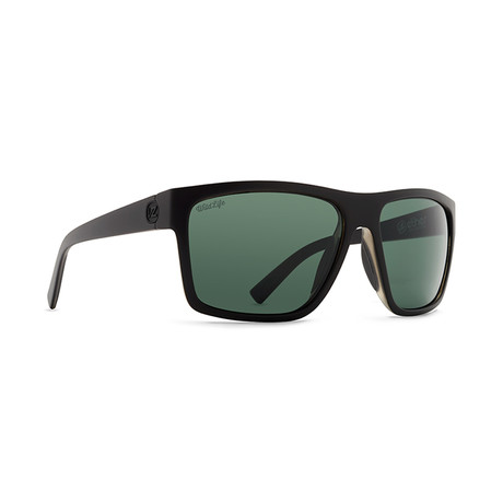 Unisex Dipstick Polarized Sunglasses // Black + Gray