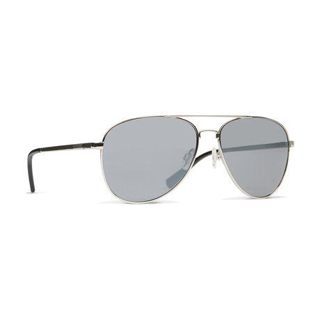 Unisex Farva Sunglasses // Silver + Gray Silver Chrome