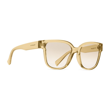 Unisex Stranz Sunglasses // Light Tan + Bronze Gradient Silver Chrome