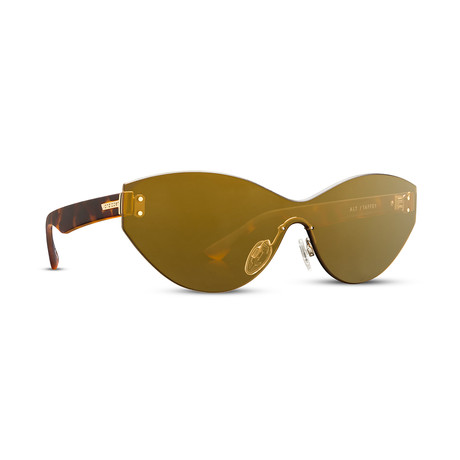 Unisex Alt Taffey Sunglasses // Tort Brown + Bronze Gold Chrome