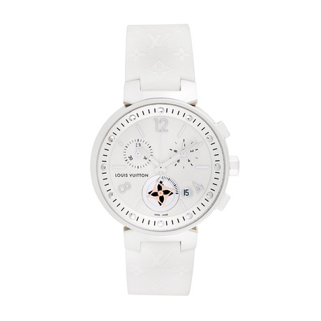 Louis Vuitton Ladies Tambour Chronograph Quartz // Q8G00 // Pre-Owned