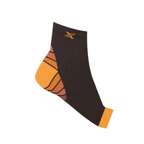 Copper-Infused Plantar Fasciitis Compression Foot Sleeves // 1-Pair// Orange (S/M)