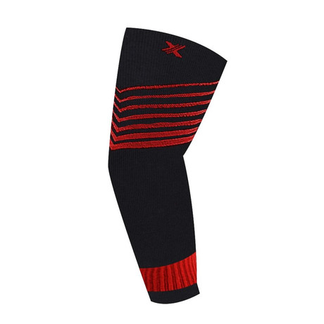 Ultra V-Striped Compression Elbow Sleeve // 1-Pair // Red (S/M)