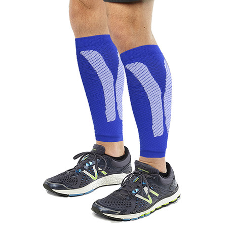2.0 Copper-Infused Calf Compression Sleeves // 1-Pair // Blue (S/M)