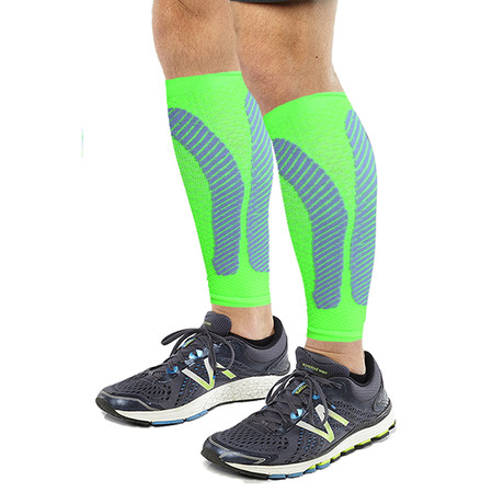 2.0 Copper-Infused Calf Compression Sleeves // 1-Pair // Green (S/M)