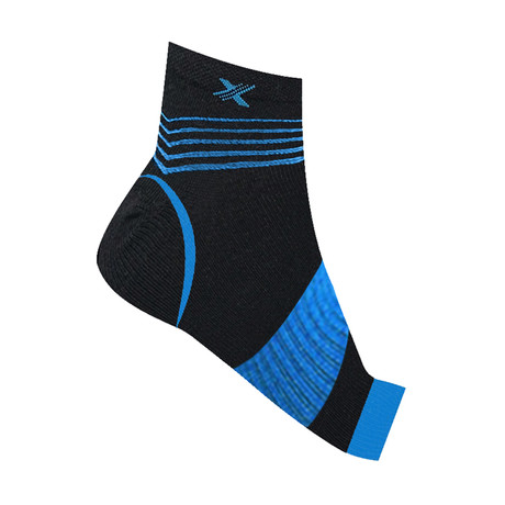 Ultra V-Striped Ankle Compression Sleeves // 1-Pair // Blue (S/M)