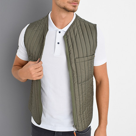 Dillon Vest // Khaki (X-Small)