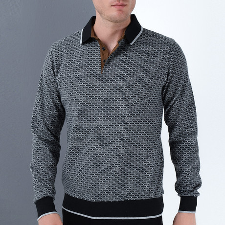Milan Sweatshirt // Patterned Black (Small)