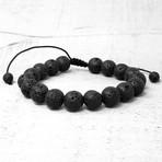 Natural Stone Beaded Adjustable Bracelet // 10mm (Lava Stone)