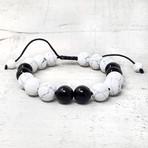 Natural Stone + Onyx Beaded Adjustable Bracelet // 10mm (Tiger's Eye)