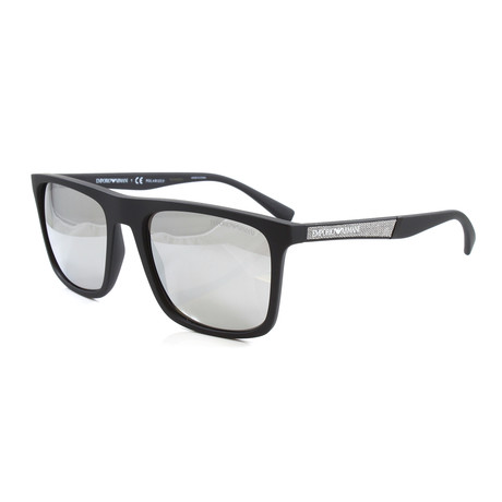 Emporio Armani // Men's EA4097 Polarized Sunglasses // Matte Black