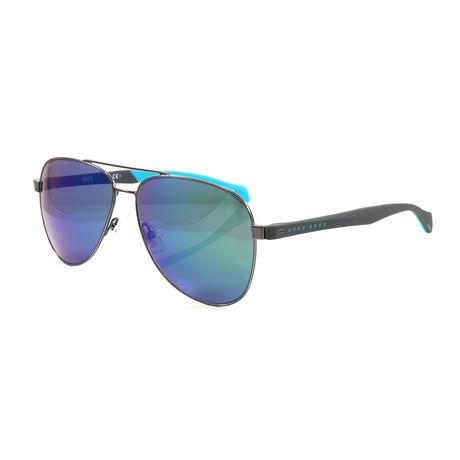 Hugo Boss // Men's 1077S Sunglasses // Blue + Black