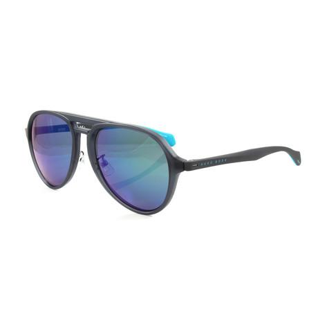 Hugo Boss // Men's 1099FS Sunglasses // Matte Blue
