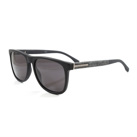 Hugo Boss // Men's 983S Polarized Sunglasses // Matte Black
