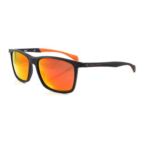 Hugo Boss // Men's 1078S Sunglasses // Matte Black + Orange