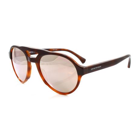 Emporio Armani // Men's EA4128 Sunglasses // Bordeaux + Honey Havana