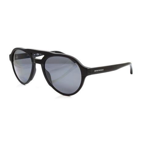 Emporio Armani // Men's EA4128 Polarized Sunglasses // Matte Black