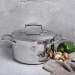 4 Quart Tri Ply Casserole Pan + Stainless Steel Lid