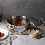 4 Quart Triply Chef's Pan + Stainless Steel Lid