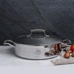 5 Quart Triply Sautee Pan + Stainless Steel Lid