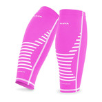 Compression Calf Sleeve // Pack of 2 // Pink + White (Small)