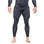 Compression Long Legging // Black + Gold (Large)