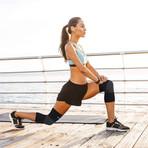 Reflexology Knee Support // Pack of 2 // Black (Medium)