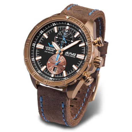 Vostok-Europe Almaz Bronze Chronograph Quartz // 6S11/3200266