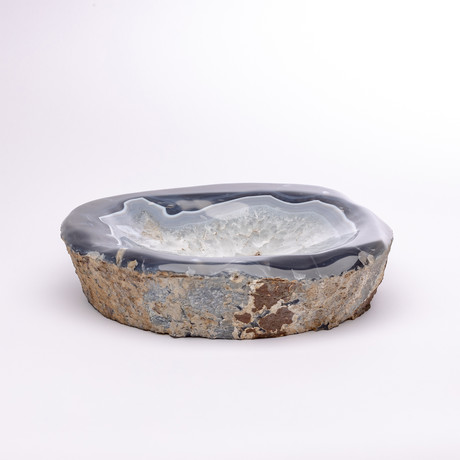 Blue Shade Agate Geode Bowl // Ver. 1
