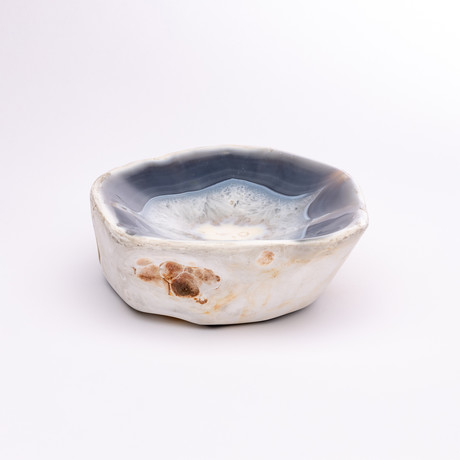 Blue Shade Agate Geode Bowl // Ver. 2